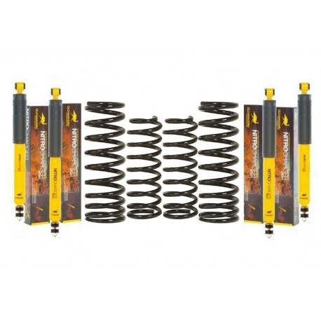 Kit suspension O.M.E. SPORT+50mm HEAVY DUTY LJ70/73 ph2 et KZJ7